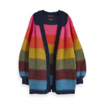 BRUSHED COLOURFUL STRIPED...