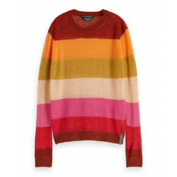 COLOURFUL STRIPED PULLOVER