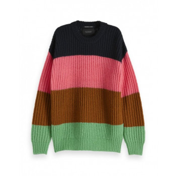 COLOUR BLOCK CREWNECK PULLOVER