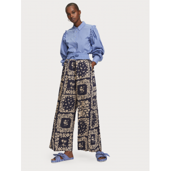 WIDE LEG PANTS WITH...