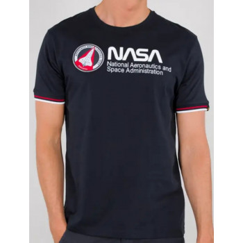 T-SHIRT NASA RETRO REP.BLUE