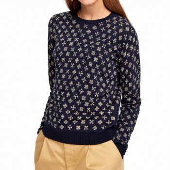 AMS BLAUW ALLOVER PRINTED KNIT