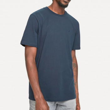 COTTON TEE WITH WIDER NECK RIB