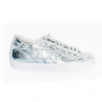 SNEAKERS LOW ARGENTO